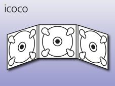 Digipack, 6-seitig, 3 Trays
