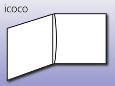 Kartonstecktasche, 4-seitig, Flap