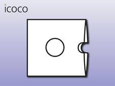 Kartonstecktasche, 2-seitig, Loch, Daumenlasche